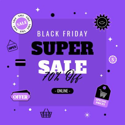 Ad Banner Design Creator Featuring a Black Friday Super Sale 4132a