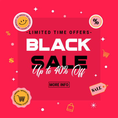 Ad Banner Design Generator to Promote Black Friday Special Offers 4132c
