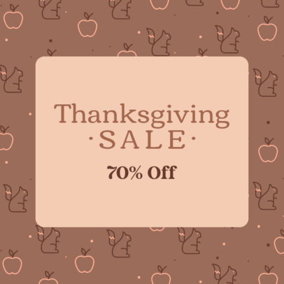 Thanksgiving Day-Inspired Ad Banner Design Creator for a Special Sale 4128a