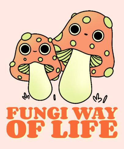 Kawaii T-Shirt Design Creator with a Fungus-Themed Pun 4122b