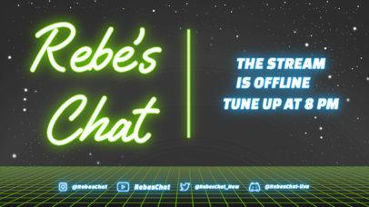 Just Chatting Twitch Offline Banner Design Maker Featuring Neon Lights 4473c-el1