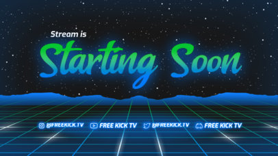 Vaporwave-Themed Twitch Starting Soon Screen Maker for a Just Chatting Streamer 4457a-el1