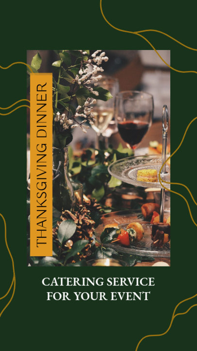 Thanksgiving-Themed  Instagram Story Template for a Dinner Catering Service 4125a