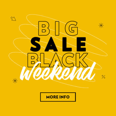 Ad Banner Maker to Remind of Black Friday Sales Weekend 4131e