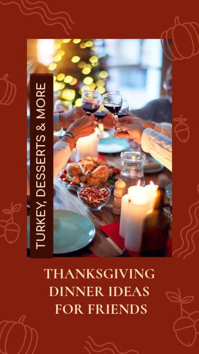 Instagram Story Design Template for Thanksgiving Dinner Ideas 4125d