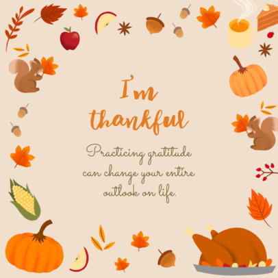 Instagram Post Design Generator With a Thanksgiving Quote 4127d