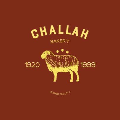 Bakery Logo Maker Featuring a Kosher Statement 4700B