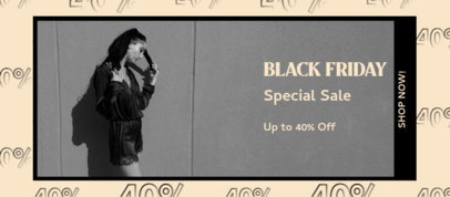 Fashion-Themed Facebook Cover Template for Black Friday 4133d