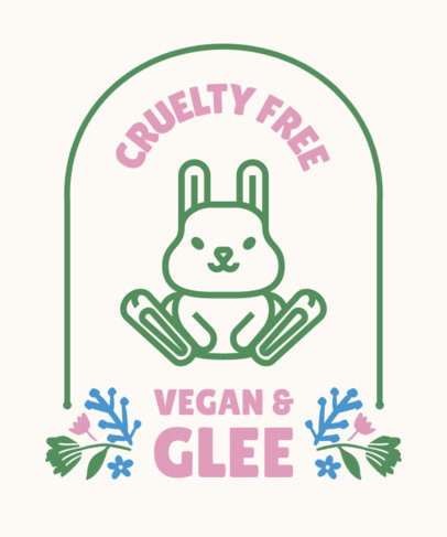 T-Shirt Design Maker Featuring Quotes About Veganism and Cute Animal Graphics 4487