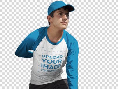 Transparent Baseball Uniform Designer - Teenager Pitcher Outdoors a16408
