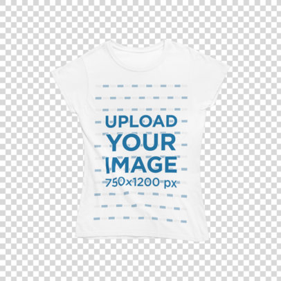 Transparent T-Shirt Mockup Featuring Northern Lights in the Background m1295