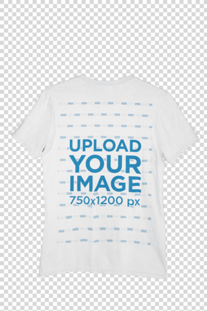 Transparent Mockup of a Round Neck T-Shirt Hanged by a Brick Wall m438