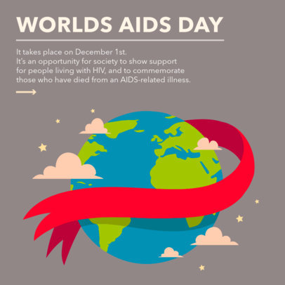 World AIDS Day-Themed Instagram Post Design Generator With Illustrations 4153b
