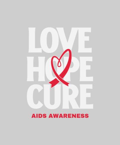 World AIDS Day-Themed T-Shirt Design Generator 4152a