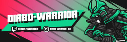 Gaming Twitter Header Design Maker Featuring a Warrior Graphic 4501e-el1