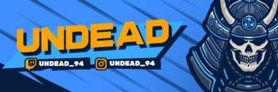 Gaming Twitter Header Generator With an Undead Warrior Graphic 4501f-el1