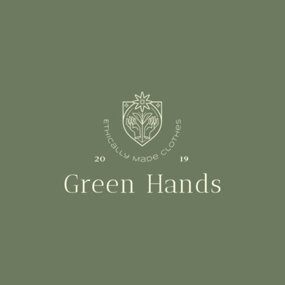 Clothing Brand Logo Maker for Sustainable Businesses  4714c