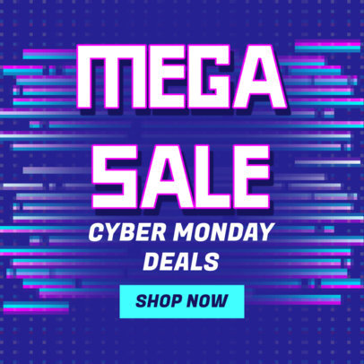 Ad Banner Design Generator Featuring a Cyber Monday Special Deal 4143b