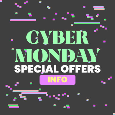 Ad Banner Template for Cyber Monday Special Offers 4144b