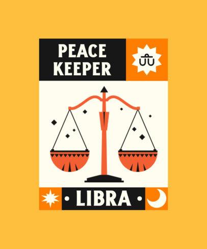 Zodiac-Themed T-Shirt Design Creator with a Libra Scale Graphic  4518c-el1