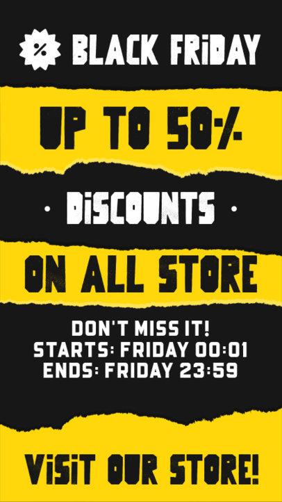 Instagram Story Maker to Promote a Special Black Friday Sale 4540a-el1