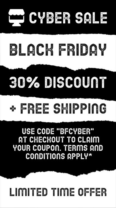 Instagram Story Generator with a Coupon for the Black Friday Sale 4540c-el1