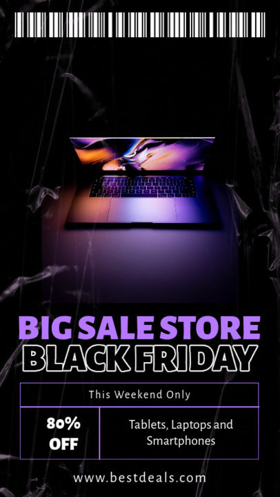 Instagram Story Design Maker for a Black Friday Discount on Tech Products 4536d-el1