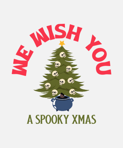 T-Shirt Design Generator Featuring a Christmas Tree and a Clever Quote 4167c