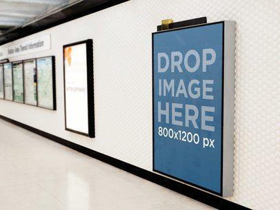 Ad On Subway Corridor