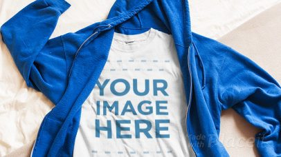 T-Shirt Stop Motion and a Hoodie Unzipping a13266