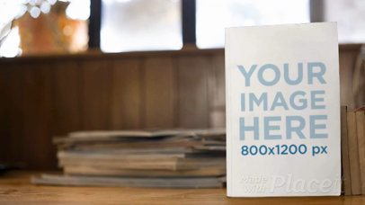 Book Standing on a Table Video With a Fan Behind It a14020
