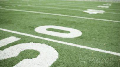 Custom Football Jerseys - Video of a Jersey Lying on the 50th Yard a16934