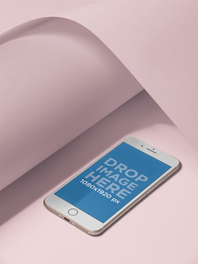 iPhone Mockup Template in a Bright Colorful Setting a19239