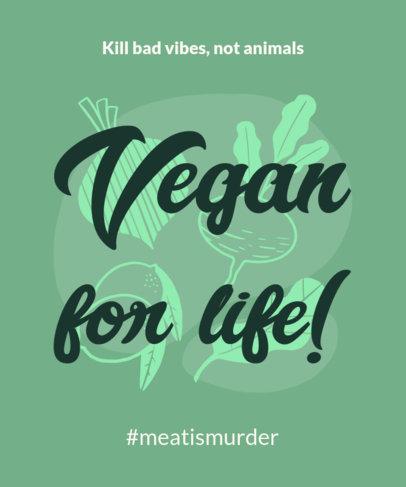 Vegan T-Shirt Design Template 23