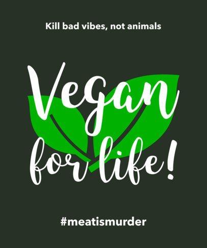 Vegan T-Shirt Design Template a23