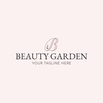 Beauty Salon Logo Maker - Capital Letter Graphics a1138