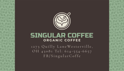 Coffee Shop Business Card Template a186