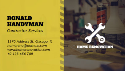 Business Card Maker for a Construction-Field Worker 230