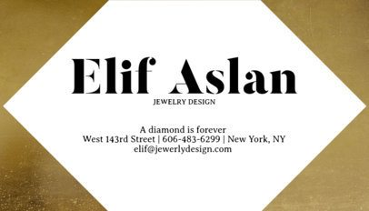 Jewelry Business Card Maker a224