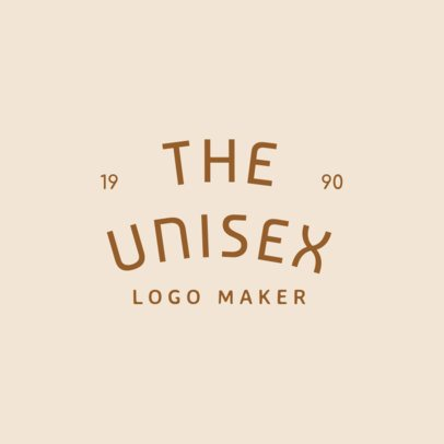 Apparel Logo Maker with Curved Minimalist Text 1067e