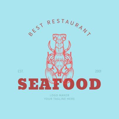 Restaurant Logo Maker with Seafood Illustrations 1020c
