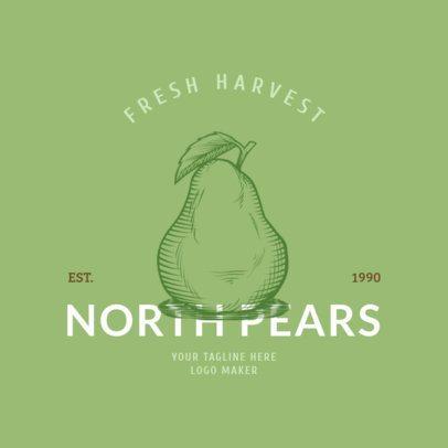 Fruit Logo Maker for Harvest Business 1020e