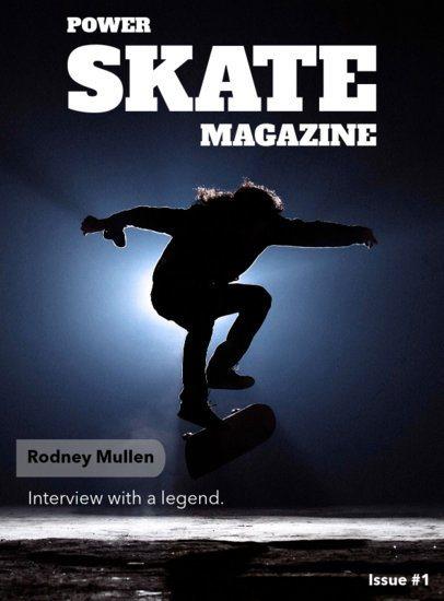 Skateboarding Magazine Cover Template 56c