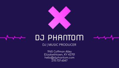 Online Business Card Maker for a DJ 130c