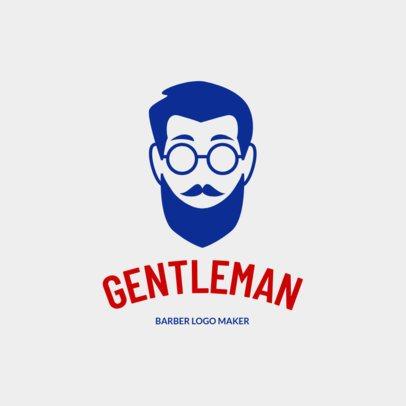 Custom Logo Maker for Barber Shops with Line Art 1153e