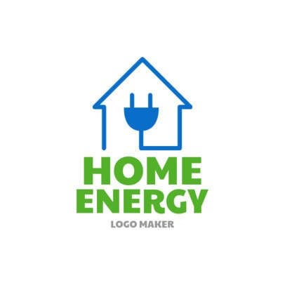 Electrical Logo Maker for Energy Generators 1183e