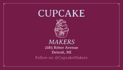 Cupcake Business Card Maker 65b