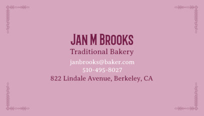 Business Card Maker for Traditional Bakeries 65d