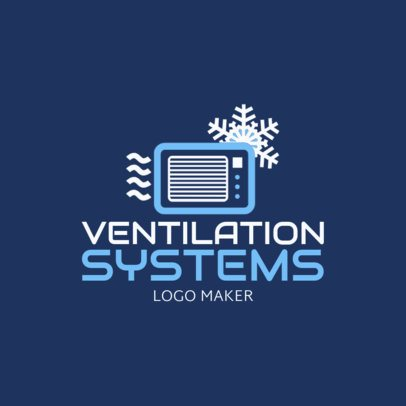 HVAC Logo Maker with Air Conditioning Icon 1179c