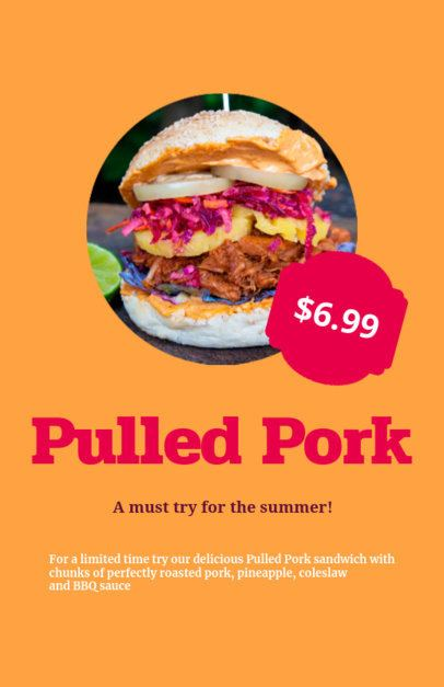 Flyer Maker for Summer Food Deals 96d